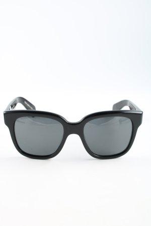 Oliver Peoples eckige Sonnenbrille schwarz-blau Casual-Look