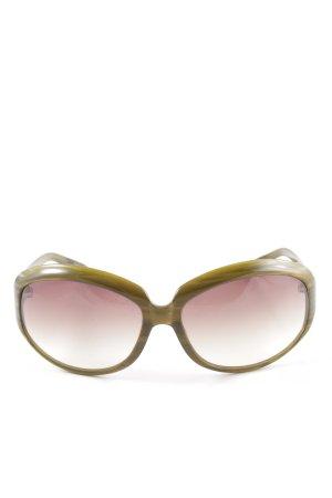 Oliver Peoples Gafas de sol ovaladas gris verdoso estilo extravagante