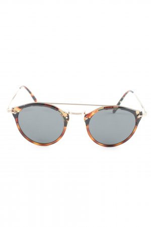 Oliver Peoples Pilot Brille braun-wollweiß Casual-Look