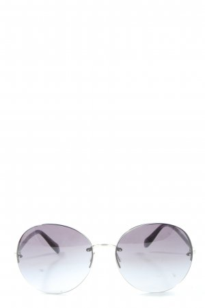 Oliver Peoples Round Sunglasses light grey casual look