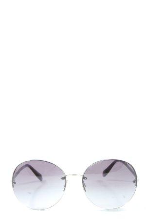 Oliver Peoples Lunettes de soleil rondes gris clair style décontracté