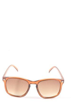 Oliver Weber Vierkante bril licht Oranje-bruin casual uitstraling