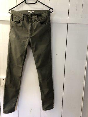 H&M Jeans cigarette vert olive