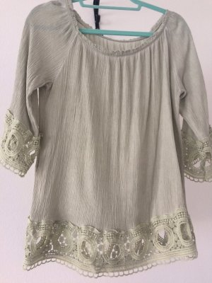 Made in Italy Kimono Blouse sage green