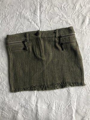 Pull & Bear Knitted Skirt olive green