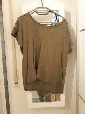 olivfarbenes T-Shirt