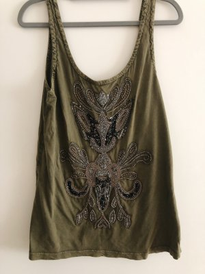Vila Backless Top olive green