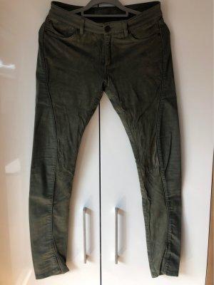 Superfine Pantalon cinq poches kaki