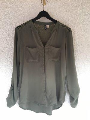 Olivgrüne Bluse / Größe 34