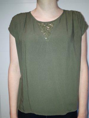 Olivgrüne Bluse Vero Moda