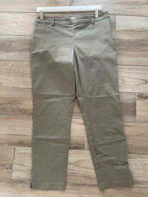 Olivgrüne elegante 7/8 Hose / Stoffhose von H&M, Gr. 44