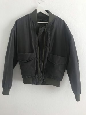 Bomber Jacket dark grey-green grey polyester
