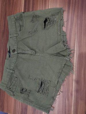 FB Sister Pantaloncino di jeans verde oliva-cachi