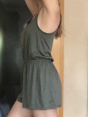 Olivgrüner/ Khakifarbener Jumpsuit