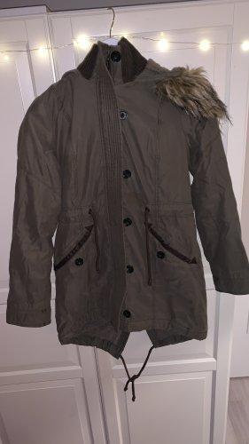 Abercrombie & Fitch Winterjas groen-grijs-khaki