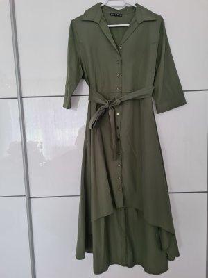 olivgrünes Hemdkleid
