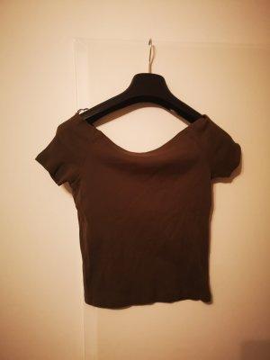 Olivgrünes kurzes T-Shirt