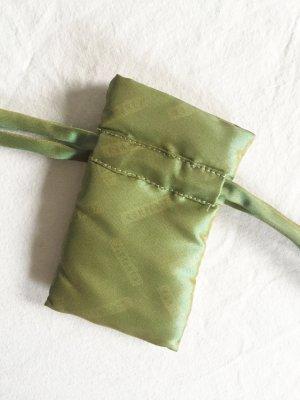 Olivgrünes, schimmerndes Täschchen / Säckchen für Schmuck oder Geschenke NEU