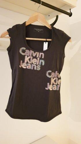 Olivgrünes Shirt von Calvin Klein in XS