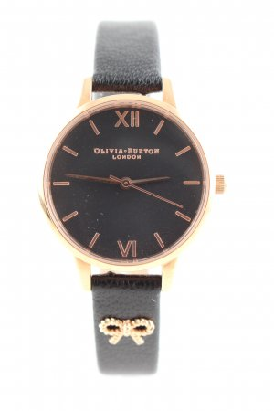 Olivia Burton Watch With Leather Strap gold-colored-black casual look