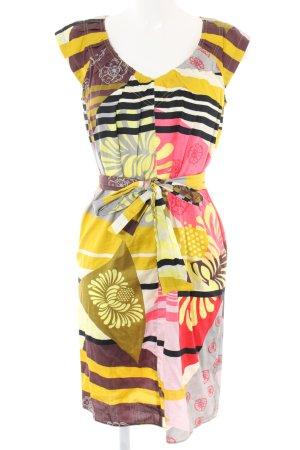 A-Linien Kleid abstraktes Muster Casual-Look