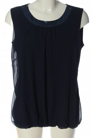 Olsen ärmellose Bluse blau Business-Look