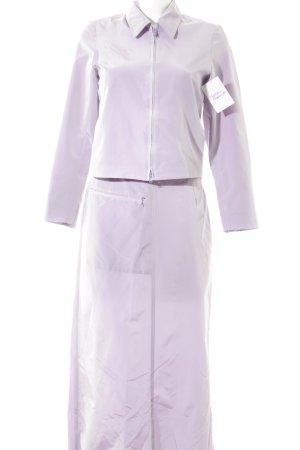 Olsen Collection Kostüm blasslila extravaganter Stil