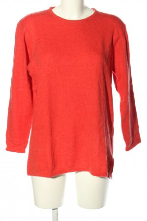 Olsen Collection Rundhalspullover rot Casual-Look