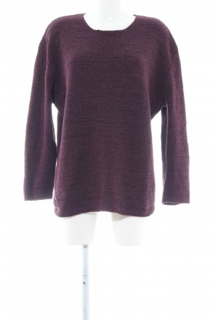 Olsen Collection Strickpullover lila Casual-Look