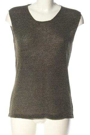 Olsen Collection Stricktop hellgrau Casual-Look