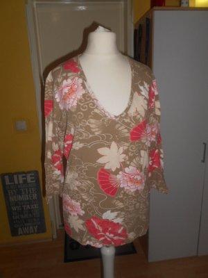 Olsen - geblümtes T-Shirt Gr. 38