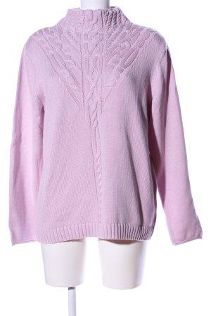 Olsen Grobstrickpullover pink Casual-Look