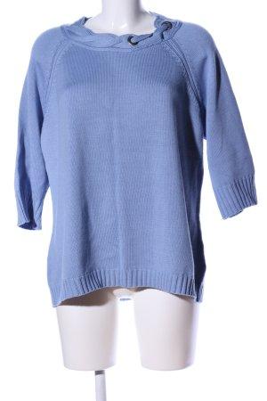 Olsen Grobstrickpullover blau Casual-Look