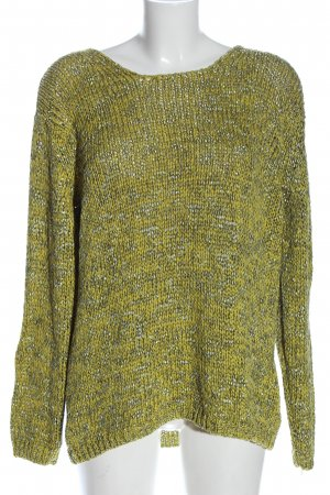 Olsen Crochet Sweater green-light grey casual look