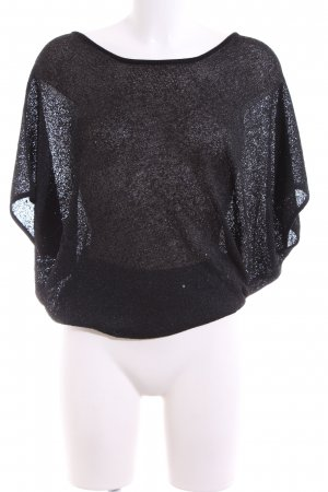 Olsen Gehaakt shirt zwart casual uitstraling