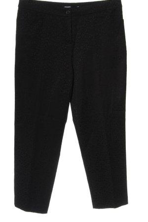 Olsen High Waist Trousers black leopard pattern casual look