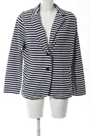 Olsen Jerseyblazer weiß-schwarz Streifenmuster Casual-Look