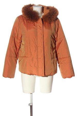Olsen Giacca con cappuccio arancione chiaro motivo a righe elegante