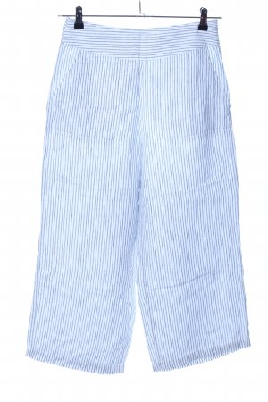 Olsen Marlenehose blau-weiß Streifenmuster Casual-Look