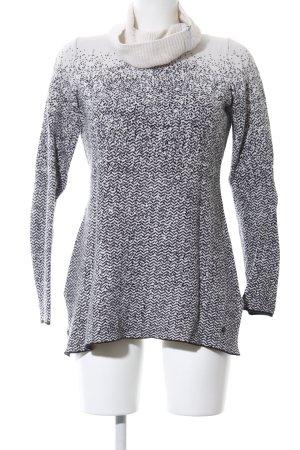 Olsen Rollkragenpullover weiß-schwarz Farbverlauf Casual-Look