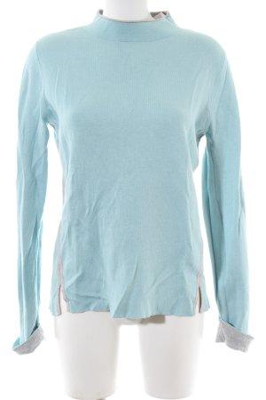 Olsen Rollkragenpullover blau Casual-Look