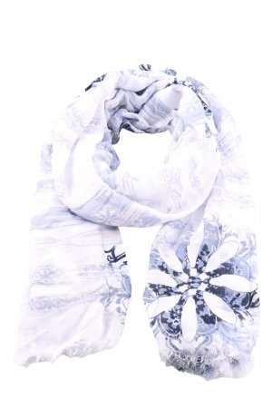 Olsen Chal veraniego gris claro-azul estampado repetido sobre toda la superficie