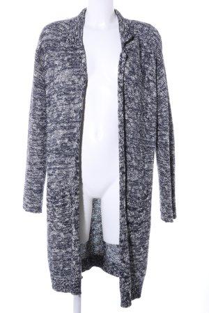 Olsen Strick Cardigan schwarz-weiß meliert Casual-Look