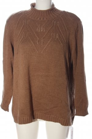 Olsen Knitted Sweater brown casual look