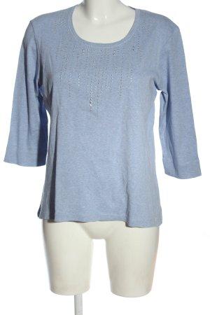 Olsen Strickshirt blau meliert Casual-Look
