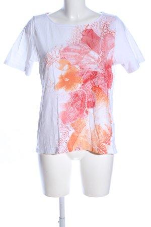 Olsen T-Shirt Blumenmuster Casual-Look