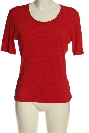 Olsen T-shirt rosso motivo a righe stile casual