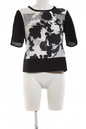 Olsen T-Shirt schwarz-weiß Allover-Druck Casual-Look