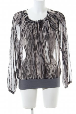 Olsen Transparenz-Bluse Animalmuster Casual-Look