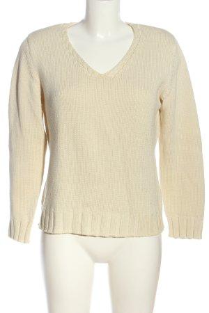 Olsen V-Ausschnitt-Pullover creme Casual-Look